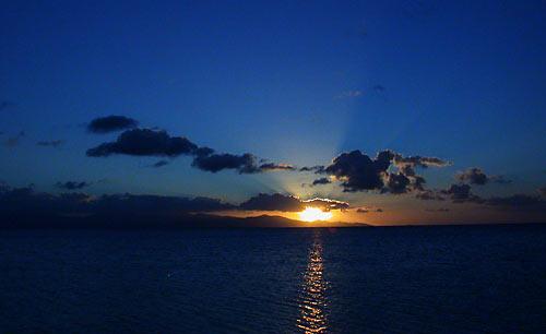 Coucher de soleil à Port Louis